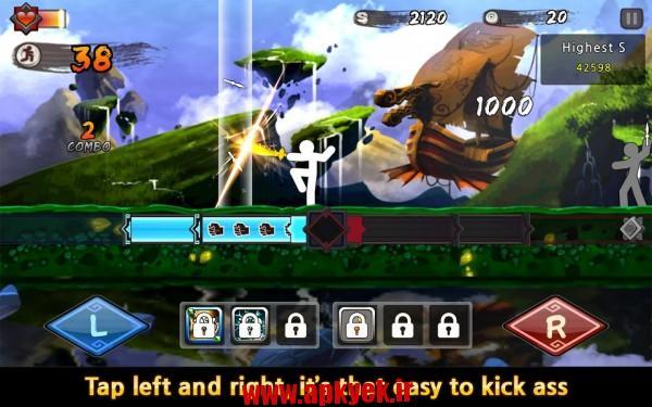 دانلود بازی یک قدم به مرگ One Finger Death Punch 4.53 اندروید مود شده