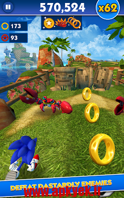 دانلود بازی سونیک داش Sonic Dash GO 2.9.0 اندروید
