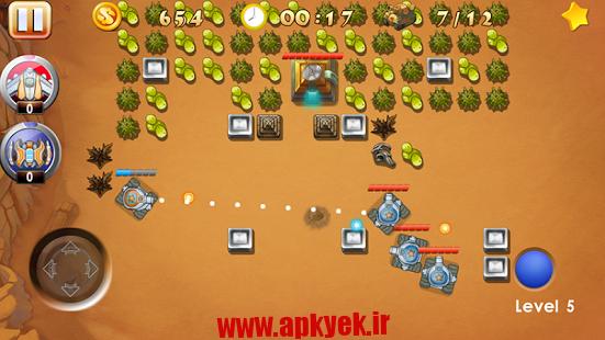 دانلود بازی نبرد تانک Tank War – Battle City v1.0 اندروید