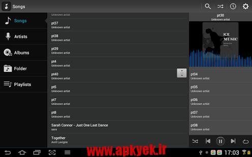 دانلود نرمافزار کی ایکس موزیک KX Music Player v1.1.9 اندروید