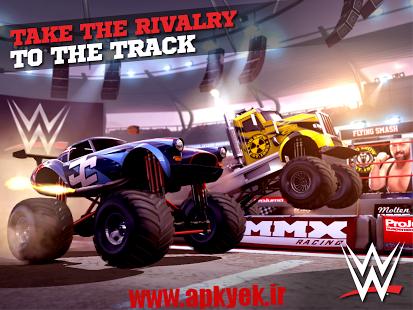 بازی مسابقات اکشن MMX Racing Featuring WWE 1.13.8679 اندروید