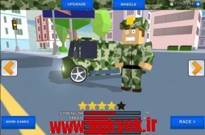 دانلود بازی رانش در شهر Blocky Army City Rush Racer 1.0 اندروید
