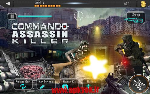 دانلود بازی تکاور قاتل Contract Commando Assassin 1.1 اندروید مود شده