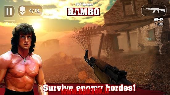 دانلود بازی رامبو RAMBO 1.0 اندروید مود شده