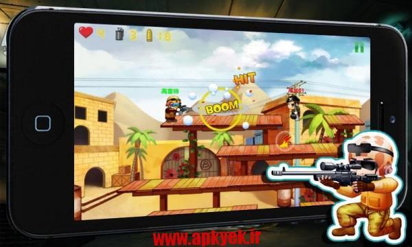 دانلود بازی مبارزه با تروریست Little Gunfight:Counter-Terror 2.3 اندروید مود شده