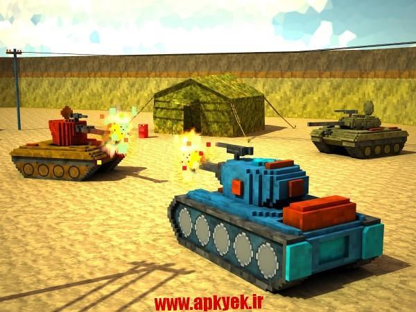 دانلود بازی جنگ کرافت Toon Tank – Craft War Mania 1.0 اندروید مود شده