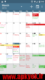 دانلود نرمافزار تقویم aCalendar – Android Calendar v1.4.0 اندروید