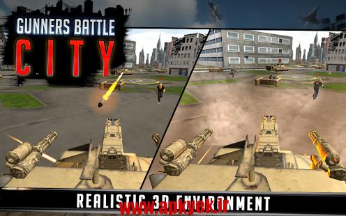 دانلود بازی نبرد توپچی Gunner Battle City 1.0 اندروید