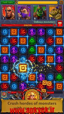 دانلود بازی قهرمان پازل Heroes and Puzzles 1.0.0.1 اندروید