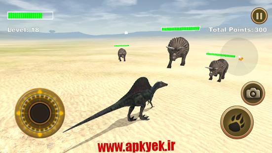 دانلود بازی شبیه ساز بقا دایناسور Spinosaurus Survival Simulator 1.0 اندروید