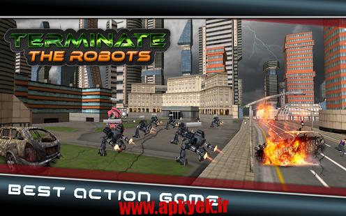 دانلود بازی پایان دادن به جنگ Terminate The Robots 1.0 اندروید