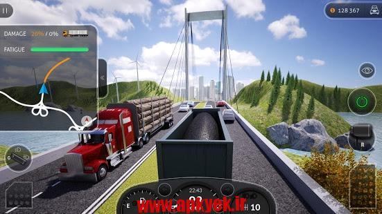 دانلود بازی شبیه ساز کامیون ۲۰۱۶ حرفه ای Truck Simulator PRO 2016 1.5.1 اندروید