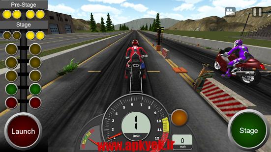 دانلود بازی موتور سواری پیچ خورده Dragbike Racing 1.2 اندروید