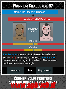 دانلود بازی اکشن مدیریت MMA MANAGER 1.2.1 اندروید