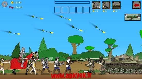دانلود بازی زمان جنگ Age of War 4.8 اندروید مود شده