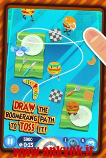 دانلود بازی جنگ میوه ها Burgerang – The Food Wars 1.4.3 اندروید