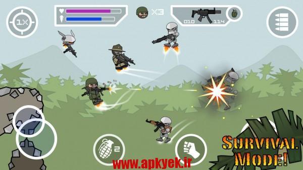 دانلود بازی ارتش دودل Doodle Army 2 : Mini Militia 2.2.2 اندروید