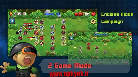 دانلود بازی جنگ در کهکشان Galaxy War Tower Defense 1.2.1 اندروید مود شده