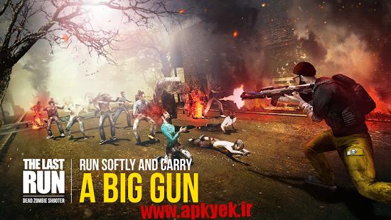 دانلود بازی تیراندازی مرده ها Last Run: Dead Zombie Shooter 1.02 اندروید