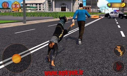 دانلود بازی شبیه ساز سگ Police Dog Simulator 3D 1.2 اندروید