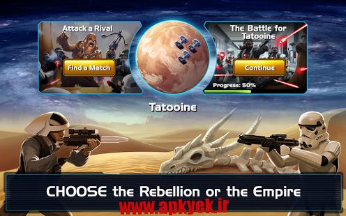 دانلود بازی فرمانده جنگ ستاره ها Star Wars: Commander 3.4.0.6502 اندروید