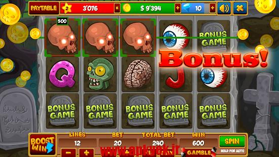 دانلود بازی زامبی اسلات Zombieland Slot ★ VIP v1.5.1 اندروید پول بینهایت