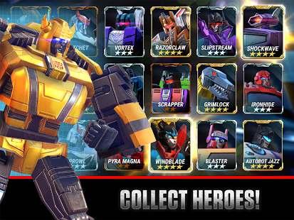 دانلود بازی جنگ ترانسفورماتور زمینی Transformers Earth Wars 1.37.0.16054 اندروید