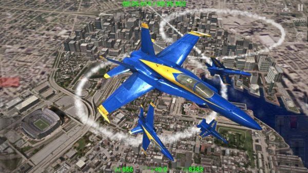 دانلود بازی اکروباتیک سیم Blue Angels – Aerobatic SIM v1.0 اندروید
